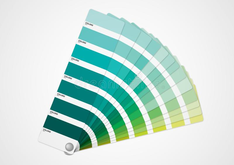 Guía de los colores verdes ilustración del vector