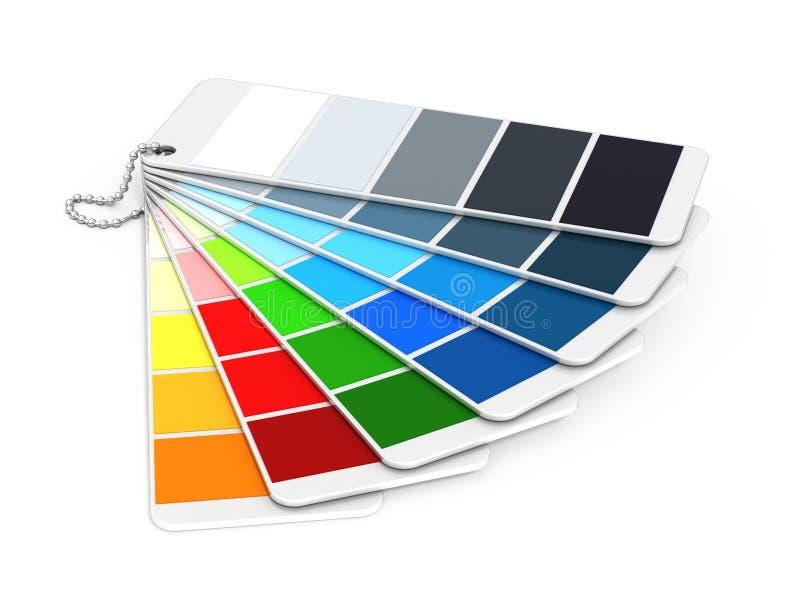 Guía del color de Pantone ilustración del vector