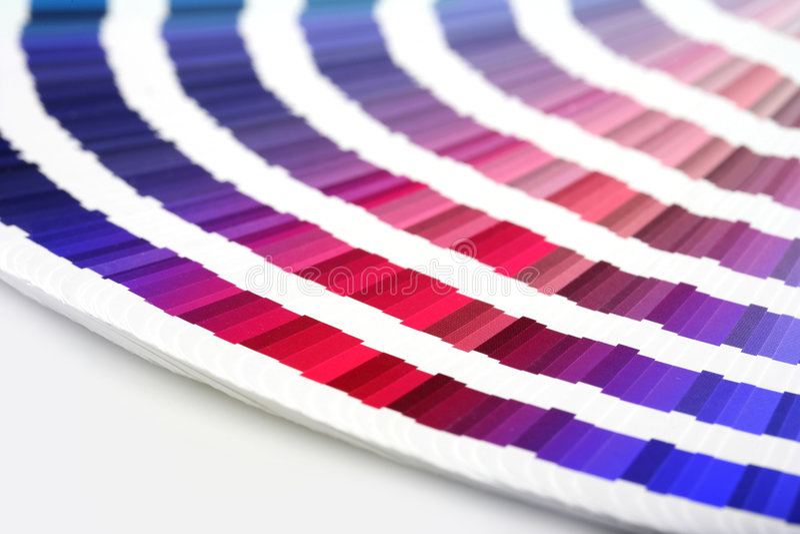Guía del color a los colores del emparejamiento foto de archivo libre de regalías