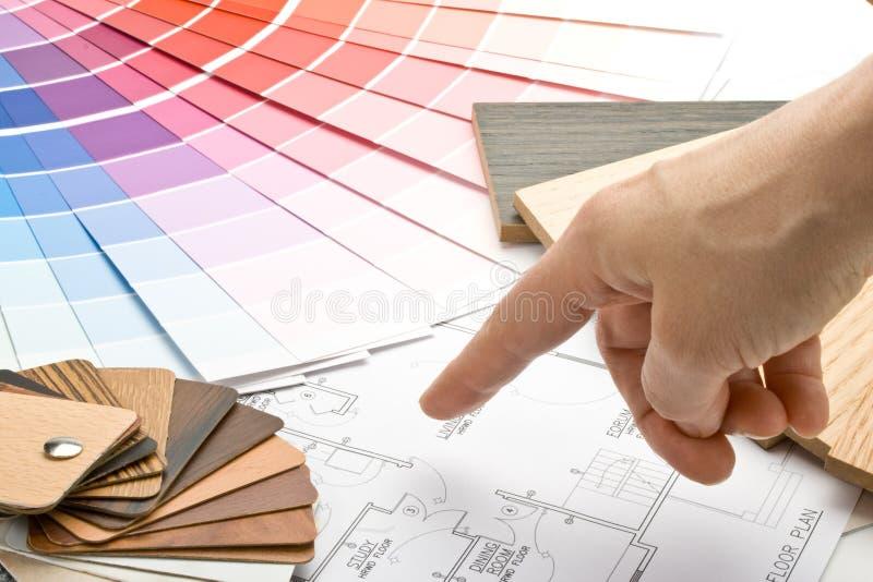 Guía del color, muestras materiales y modelo imagen de archivo libre de regalías