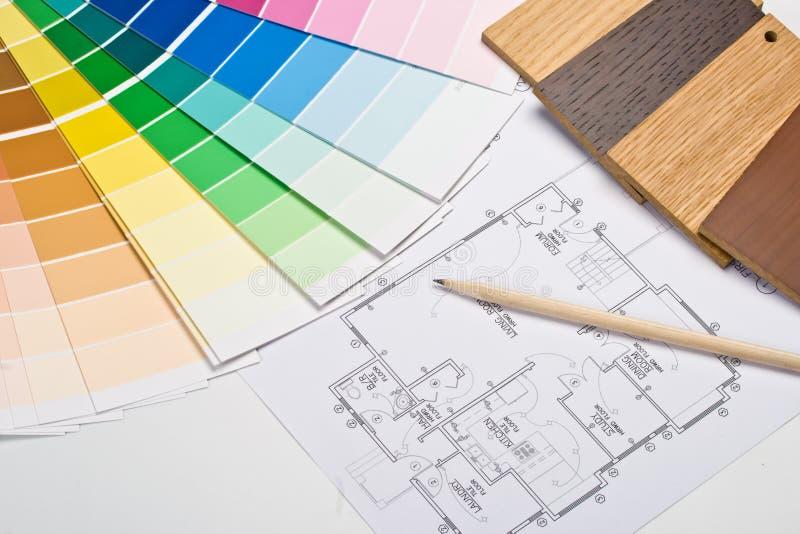 Guía del color, muestras materiales y modelo imagen de archivo