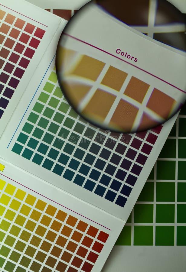 Guía del color para la impresión del desplazamiento foto de archivo libre de regalías