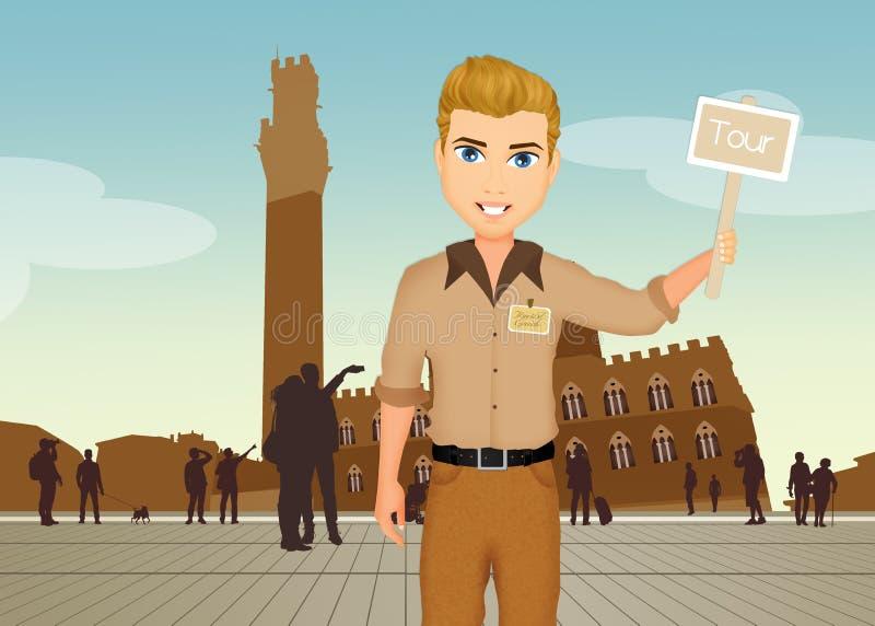 Guía turística en Siena libre illustration