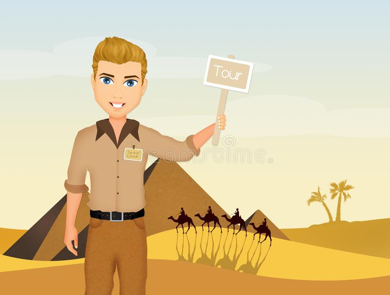 Guía turístico en Egipto libre illustration