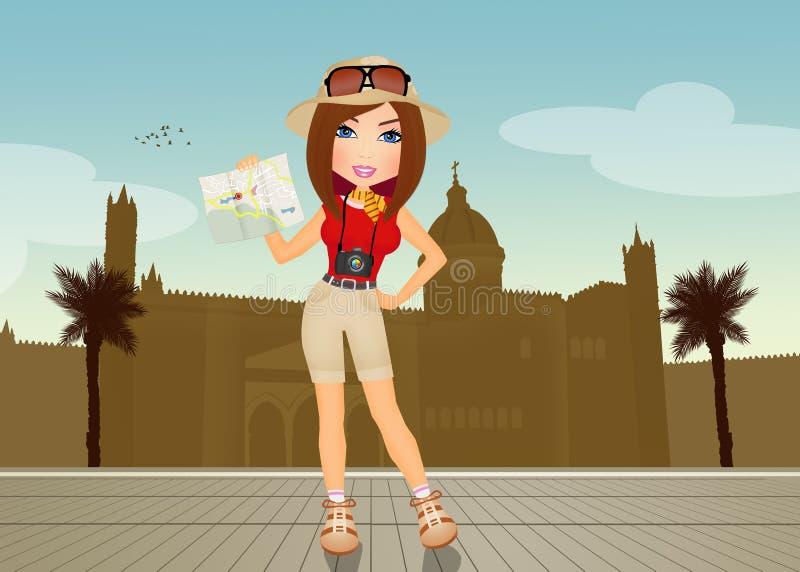 Guía turístico en Palermo ilustración del vector