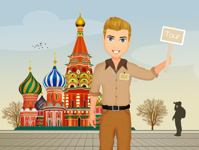 Guía turístico en Rusia libre illustration