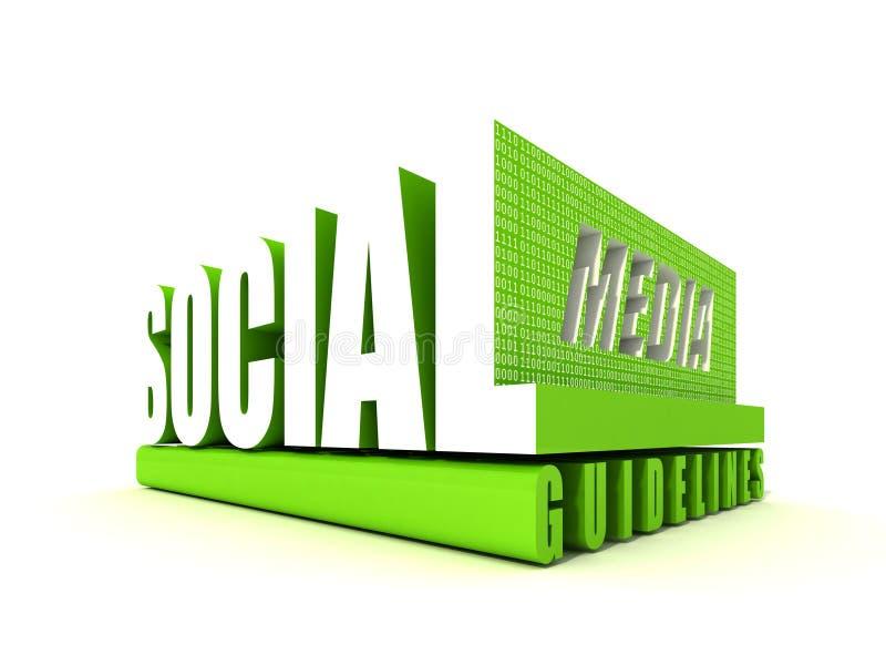 Guías de consulta sociales de los media ilustración del vector