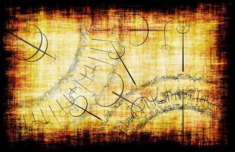 guślarstwo ilustracja wektor