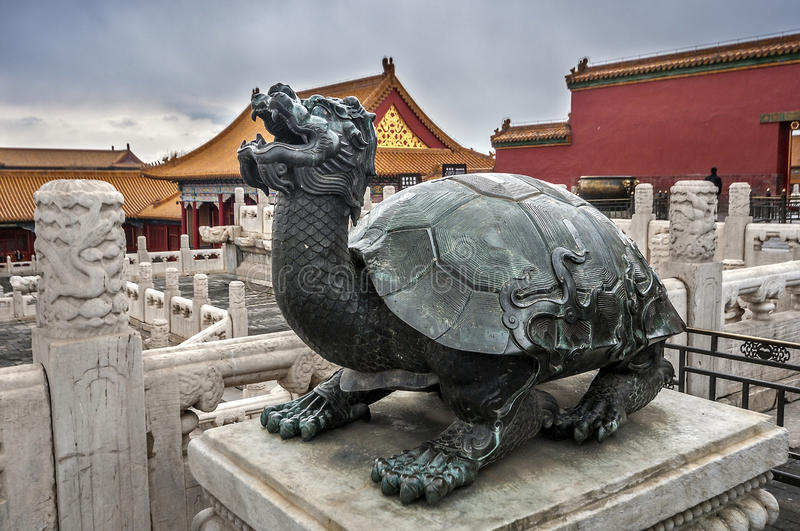 Gu Gong Imperial Palace Forbidden City. stock photo