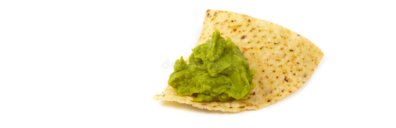 Guacamole και nachos στοκ εικόνα με δικαίωμα ελεύθερης χρήσης