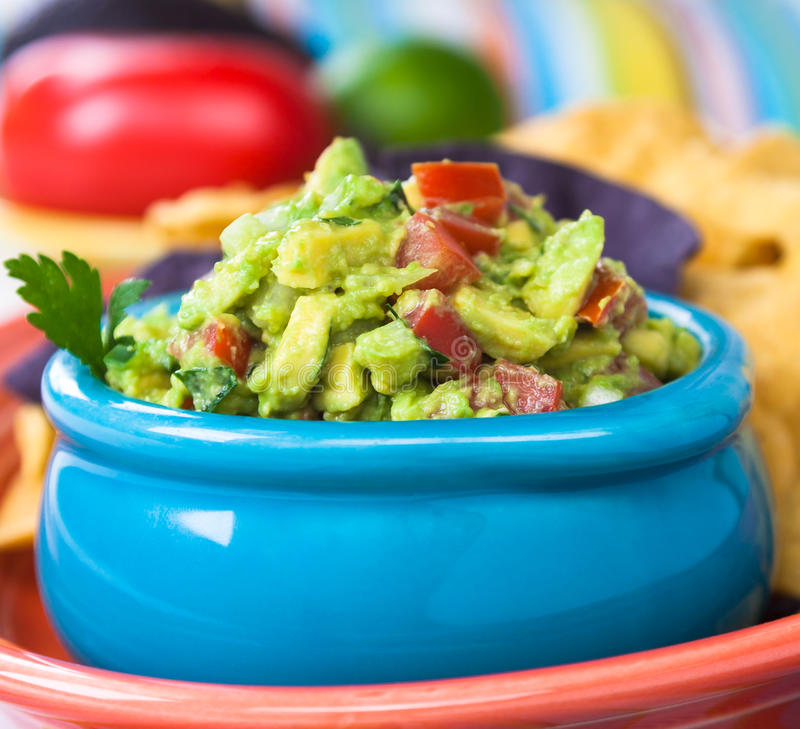 Download Guacamole Bowl stock photo. Image of lime, fresh, snack - 30842370