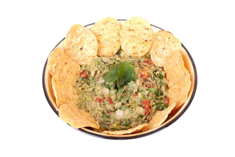 Download Guacamole dip with nachos stock photo. Image of delicious - 24893342