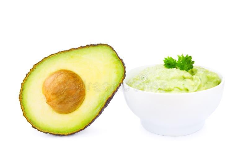 Guacamole e abacate imagem de stock