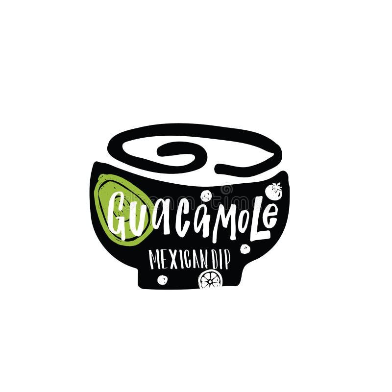 guacamole Mexicaanse onderdompeling royalty-vrije illustratie