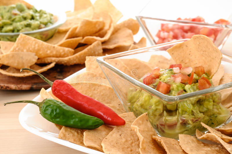 Download Guacamole snack stock photo. Image of green, corn, nobody - 26202780