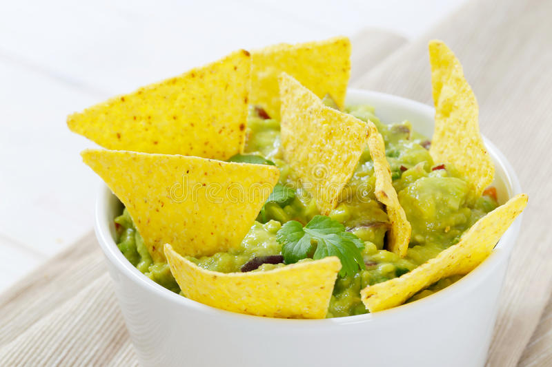 Download Guacamole With Tortilla Chips Stock Photo - Image: 83708792