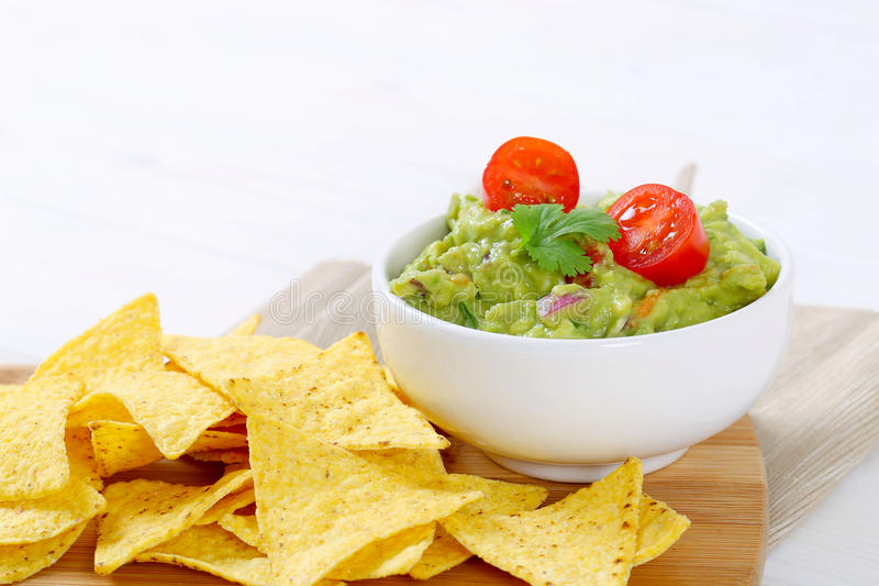 Download Guacamole With Tortilla Chips Stock Photo - Image: 83709474
