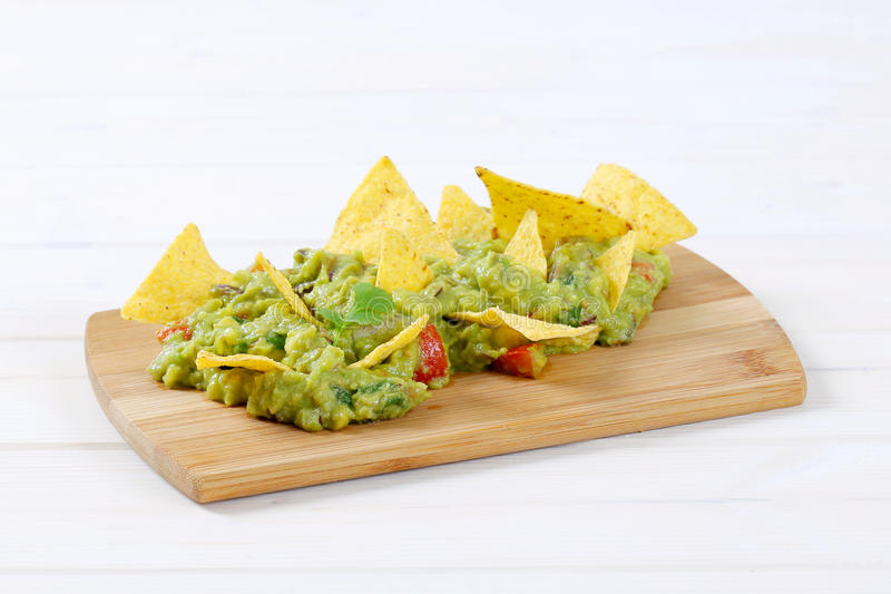 Download Guacamole With Tortilla Chips Stock Photo - Image: 83708593