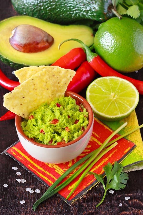 Guacamole upad. zdjęcia stock