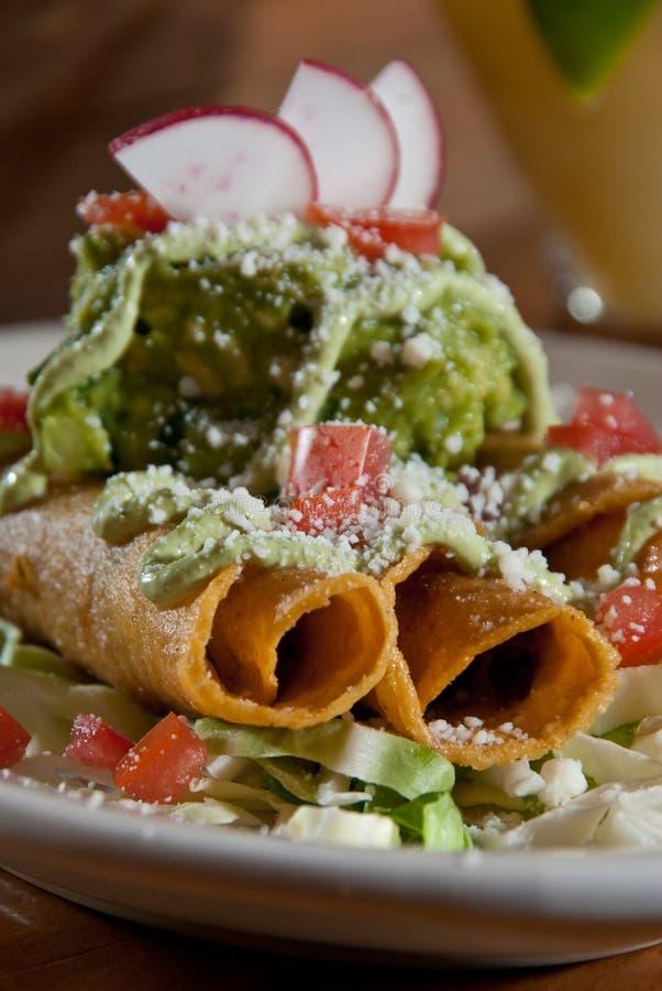 guacamoletaquitos royaltyfri foto