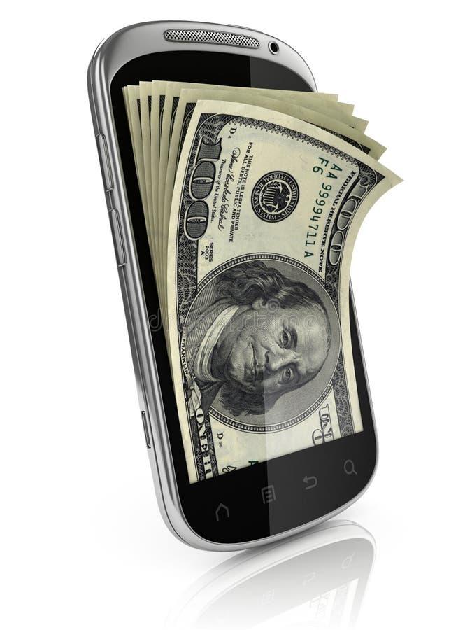 Guadagni astuti dei soldi del telefono illustrazione vettoriale