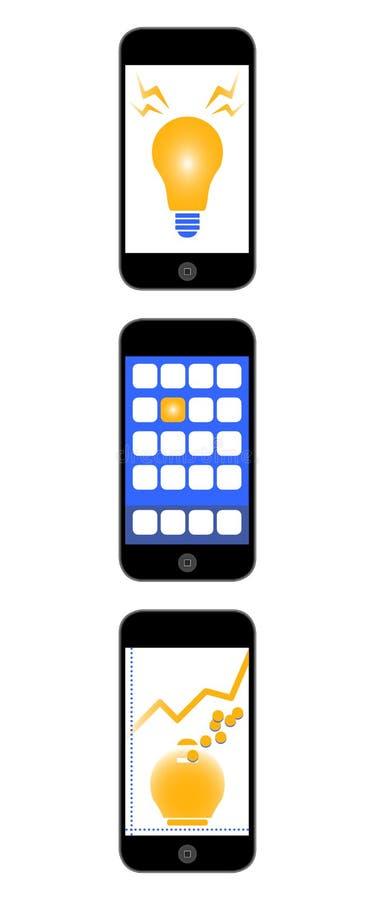 Guadagni di App illustrazione di stock
