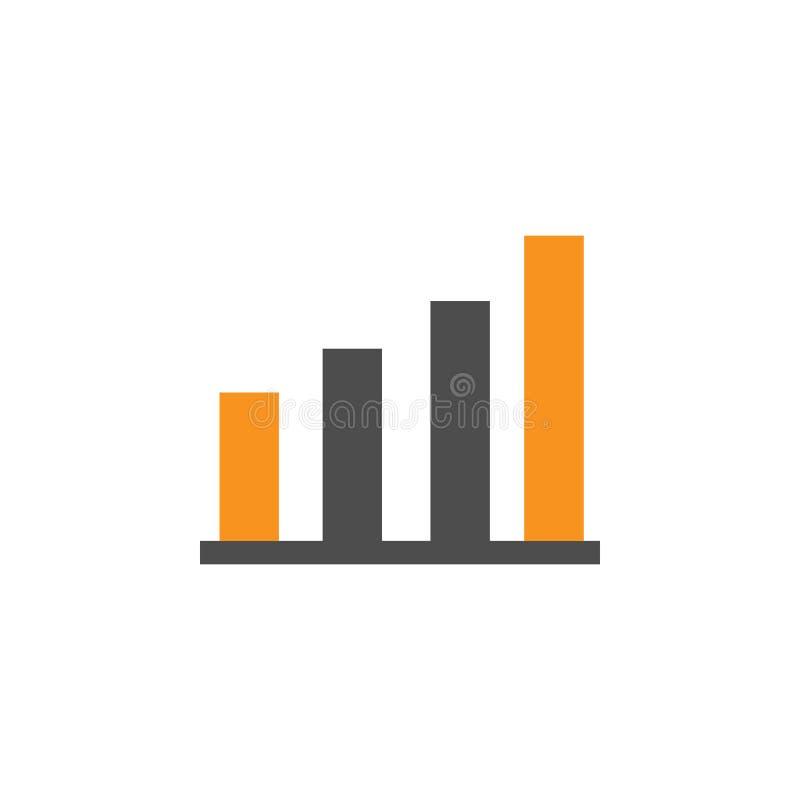 Guadagni ed icona di crescita Elemento di finanziario, dei diagrammi e dell'icona di rapporti per il concetto mobile ed i apps di illustrazione di stock