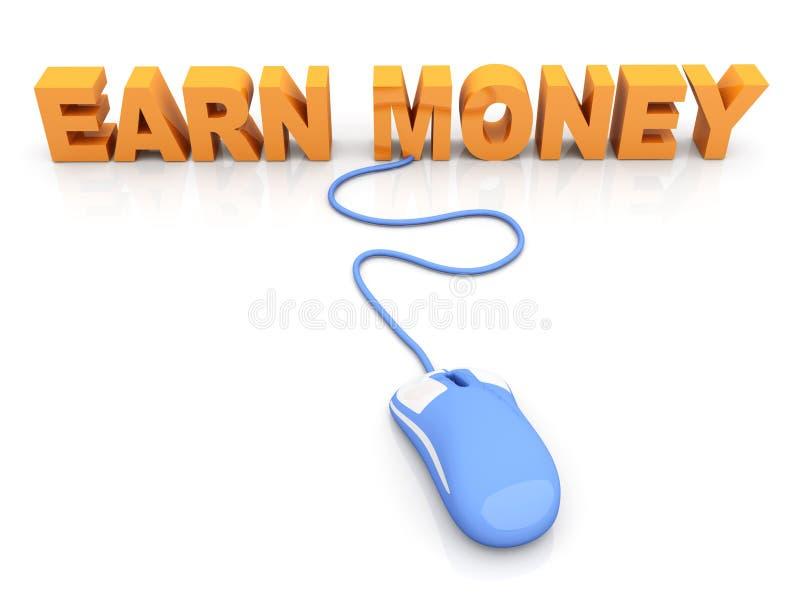 Guadagni i soldi illustrazione di stock