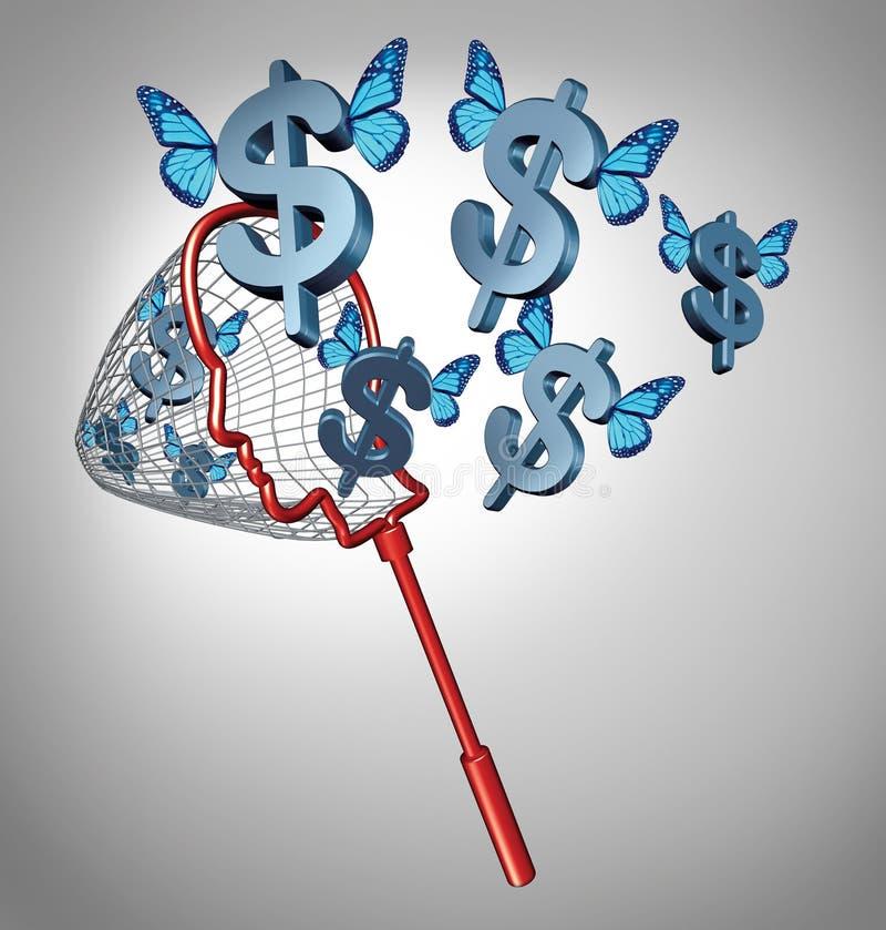 Guadagni i soldi illustrazione vettoriale