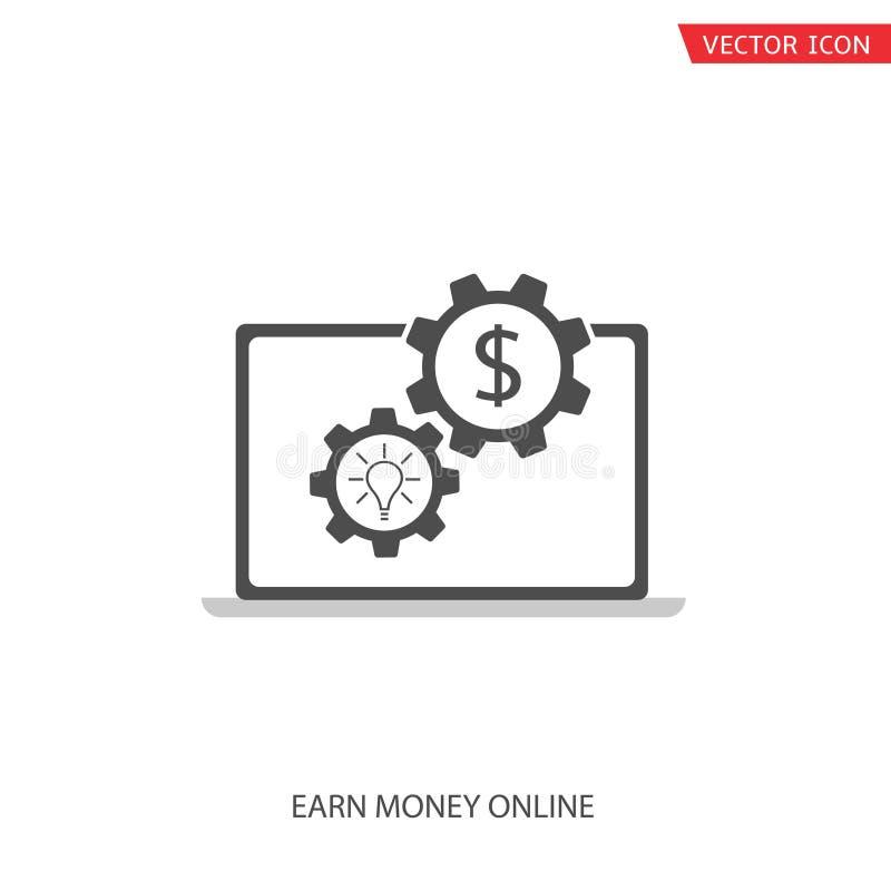 Guadagni i soldi in linea royalty illustrazione gratis