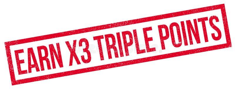 Guadagni a X3 il timbro di gomma dei punti tripli royalty illustrazione gratis