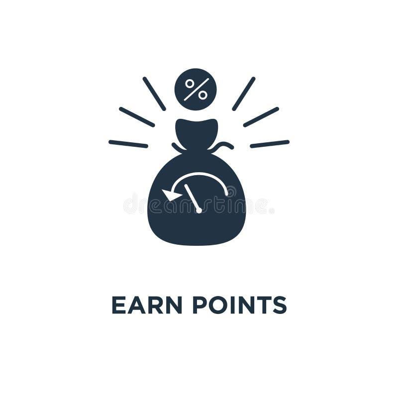 guadagni l'icona dei punti programma di lealtà, investimento a lungo termine, crescita di reddito, progettazione di simbolo di co royalty illustrazione gratis