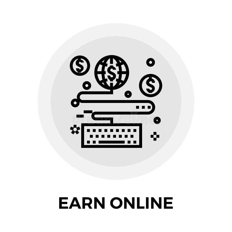 Guadagni la linea online icona illustrazione vettoriale