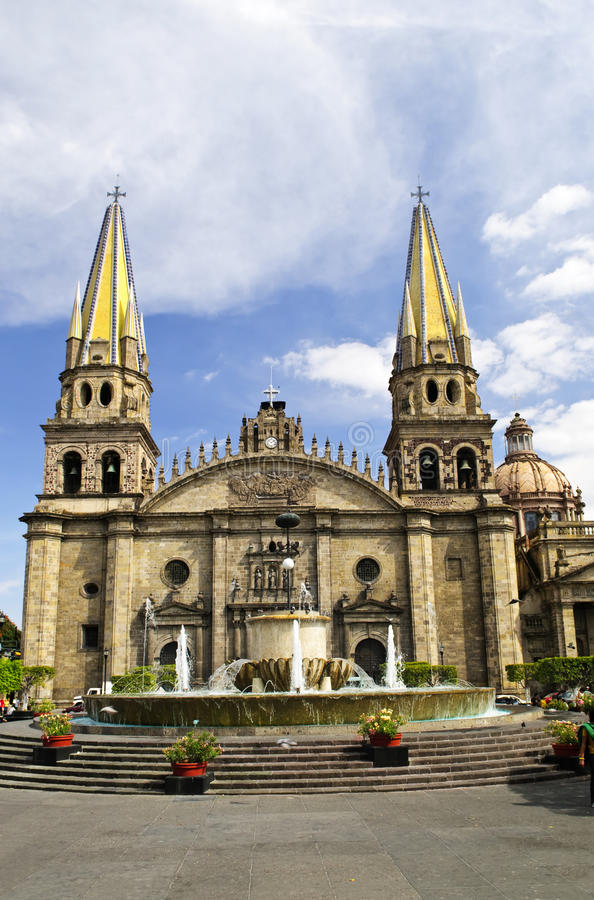 Guadalajara Cathedral in Jalisco, Mexico stock photo