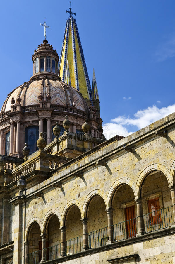 Guadalajara Cathedral in Jalisco, Mexico royalty free stock photography