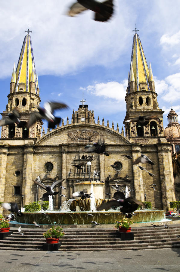 Guadalajara Cathedral in Jalisco, Mexico royalty free stock photos