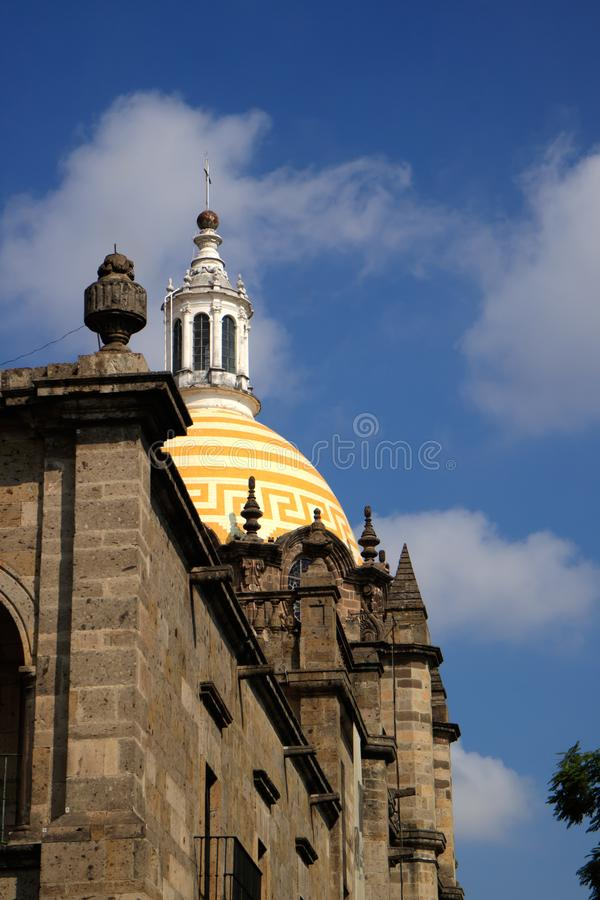 Guadalajara. Church in the state of Jalisco, Mexico stock image