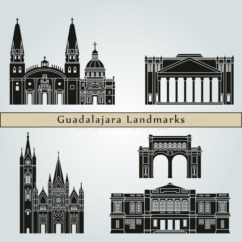 Guadalajara Landmarks vector illustration