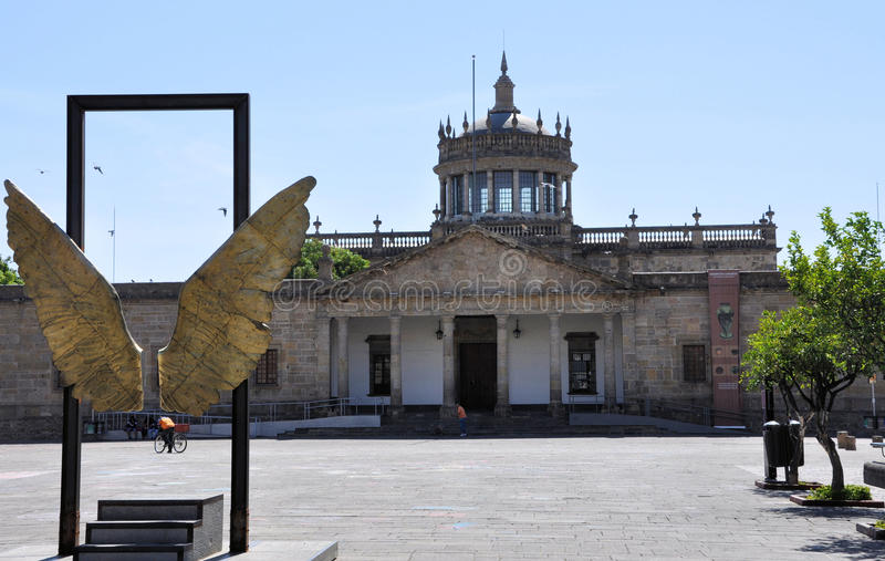 Guadalajara Mexico. Image of Hospicio Cabanas and Wings Sculpture at Guadalajara Mexico royalty free stock photo