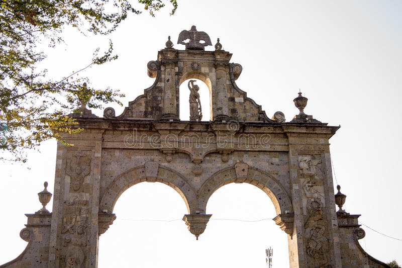 Guadalajara Zapopan Arcos Arq Jalisco Mexico. Guadalajara Zapopan Catedral Cathedral Jalisco Mexico. Located in the heart of Zapopan downtown te iconique unique stock photos