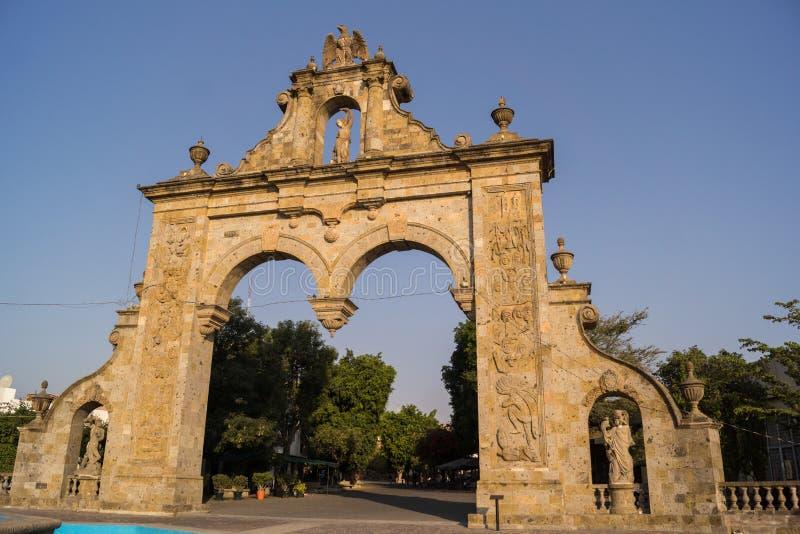Guadalajara Zapopan Arcos Arq Jalisco Mexico. Guadalajara Zapopan Catedral Cathedral Jalisco Mexico. Located in the heart of Zapopan downtown te iconique unique stock photography