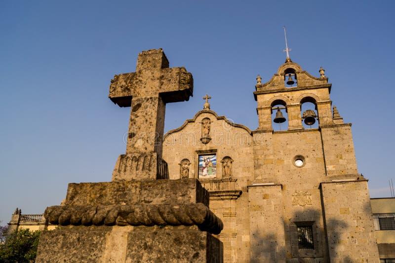 Guadalajara Zapopan San Pedro Jalisco Mexico. Guadalajara Zapopan Catedral Cathedral Jalisco Mexico. Located in the heart of Zapopan downtown te iconique unique stock photo