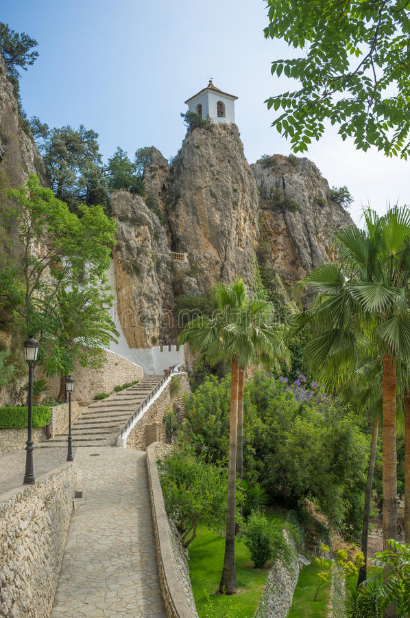 Guadalest belfry royalty free stock images