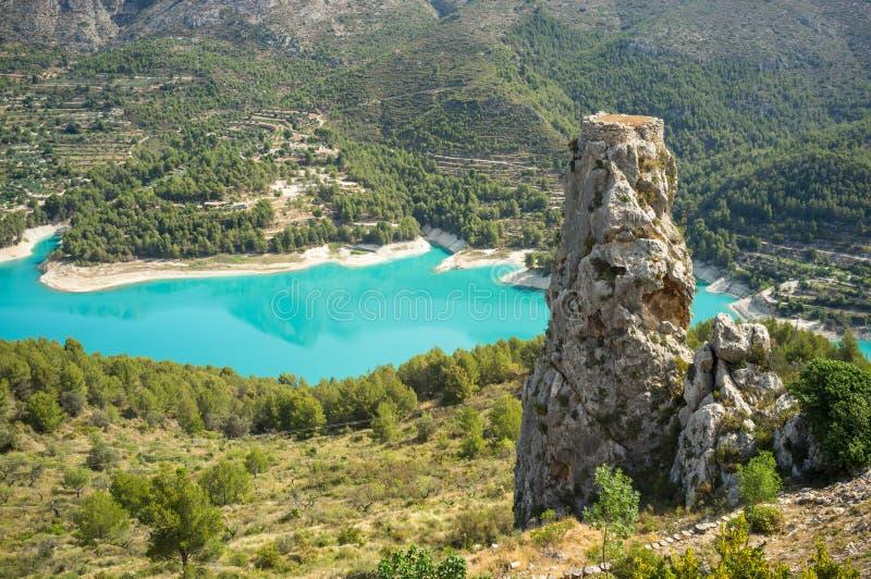 Guadalest reservoir stock image