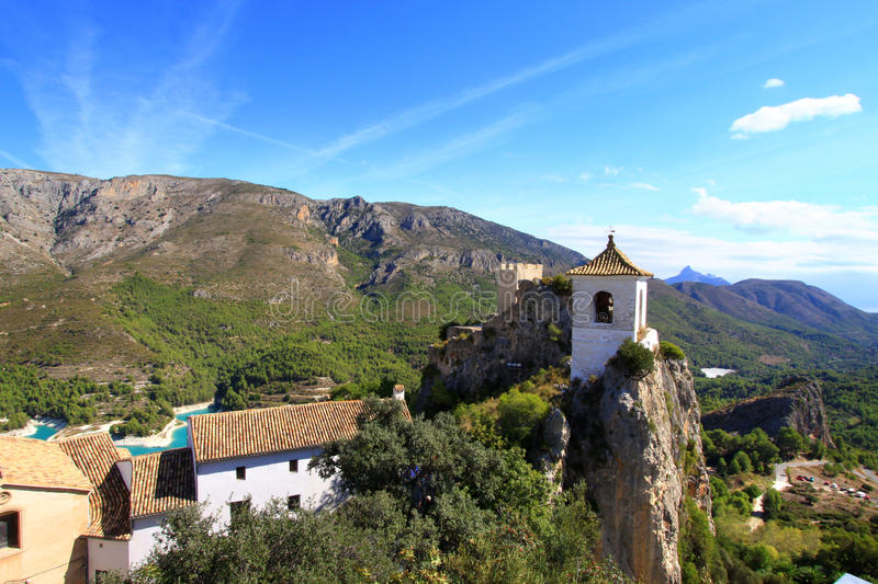 Guadalest's Bell Tower royalty free stock photos