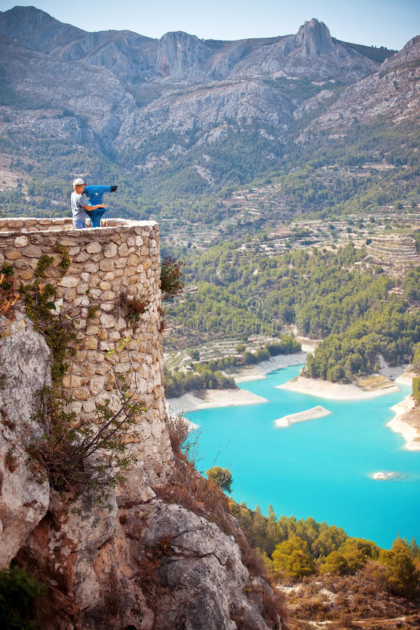 Guadalest, Spain stock images