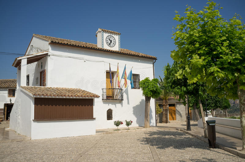 Guadalest town hall stock images