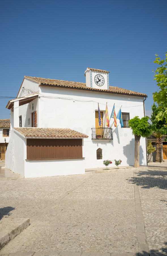 Guadalest town royalty free stock photo