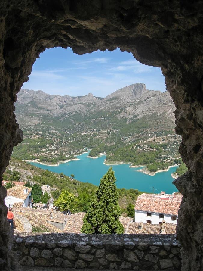 Guadalest, Valencia y Murcia, Spanje royalty-vrije stock foto's