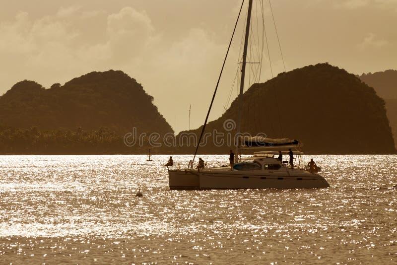 Guadaloupe, остров Saintes стоковое фото